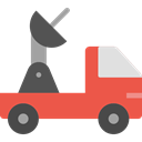 Automobile, transport, vehicle, Satellite, van, Car, transportation Tomato icon