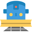 travel, transport, street, train, transportation, rails, travelling CornflowerBlue icon