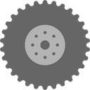 drive, wheel, wheels, tractor, Tire, repair, transportation, truck, transport DimGray icon