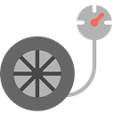measure, transportation, meter, needle, technology, Gauge, pressure, Tools And Utensils, Atmospheric DimGray icon