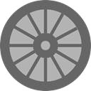 wheel, Car, transportation, transport, vehicle, Automobile, Alloy Wheel DimGray icon