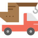 garage, Trucks, Cranes, transportation, truck, transport, mechanic, Crane Coral icon
