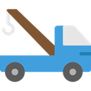 transportation, truck, Trucks, Cranes, transport, mechanic, Crane, garage CornflowerBlue icon