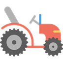 tractor, Farm, Automobile, engine, transportation, transport, vehicle Black icon