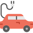 plug, Car, transportation, transport, Automobile, electric car, Electric Vehicle Coral icon