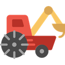 transportation, truck, transport, Construction, cargo, loader, trucking, Construction And Tools Black icon