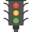 stop, Road sign, buildings, Signaling, Stop Signal, light, Business, Traffic light, transportation DarkSlateGray icon