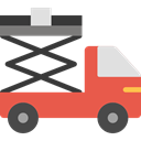 transportation, transport, trucking, lifter, Weightlifter, Cargo Truck Tomato icon