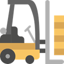 Fork, transportation, truck, transport, vehicle, lift, Forklift, Industrial, Shipping And Delivery SandyBrown icon