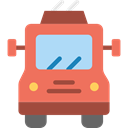 transportation, transport, vehicle, Trolleybus, Automobile, Public transport Coral icon