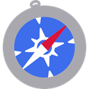Browser, Apple, Logo, compass, safari, Squares DarkGray icon