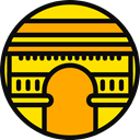 france, landmark, Monuments, Architectonic, Arc De Triomphe, europe, Arc, paris, engineering Orange icon
