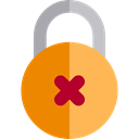 locked, Lock, secure, security, padlock, wrong, Tools And Utensils Black icon