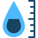 printer, miscellaneous, drop, Measurement, printing, Prints CornflowerBlue icon