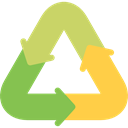 Arrows, miscellaneous, shapes, recycle, ecology, Ecological, Ecologic, Ecologism DarkKhaki icon