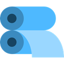 Rolls, paper, printer, miscellaneous, machine, printing CornflowerBlue icon