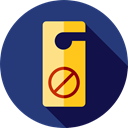 sign, hanger, Holidays, Do not disturb, Sleeping, Door Hanger MidnightBlue icon