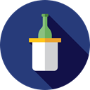 party, Alcohol, food, Bottle, champagne, Celebration, Alcoholic Drinks, Food And Restaurant, Birthday And Party DarkSlateBlue icon