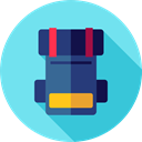 Bags, travel, Backpack, luggage, baggage SkyBlue icon