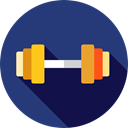 weight, Dumbbells, Tools And Utensils, Sports And Competition, sports, gym, dumbbell, weights Icon