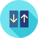 miscellaneous, Elevator, lift, Doors SkyBlue icon