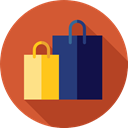 Business, commerce, shopping, Commerce And Shopping, Bag, shopping bag, Supermarket, Shopper Chocolate icon