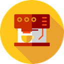 drink, technology, hot drink, kitchenware, Coffee Maker, Coffee Shop, Food And Restaurant Gold icon