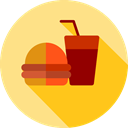 food, Fast food, junk food, sandwich, Burger, hamburger, Food And Restaurant Khaki icon