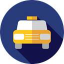 Car, Cab, transportation, transport, vehicle, taxi, Automobile DarkSlateBlue icon