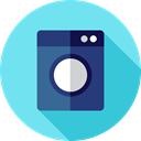 Housekeeping, Electrical Appliance, cleaning, wash, washing, washing machine, Clean, electronics SkyBlue icon