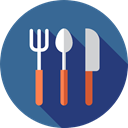 Fork, metal, Knife, Camping, spoon, Cutlery, Tools And Utensils, Food And Restaurant SteelBlue icon
