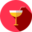 Food And Restaurant, leisure, drinking, straw, Alcoholic Drinks, party, Alcohol, food, cocktail Crimson icon