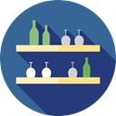 drinks, Chairs, Alcoholic Drinks, Food And Restaurant, Bar, Alcohol, Business, Restaurant DarkSlateBlue icon