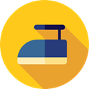iron, Laundry, ironing, Tools And Utensils, Housework, Furniture And Household Gold icon