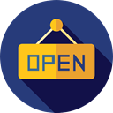 Shop, Signaling, open, sign, Business, signal DarkSlateBlue icon