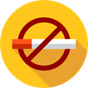 signs, Signaling, Healthcare And Medical, forbidden, no smoking, Smoke, Cigarette, prohibition Gold icon