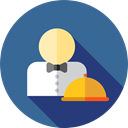 people, user, Avatar, Occupation, Professions And Jobs, job, Restaurant, waiter, profession SteelBlue icon