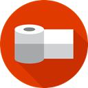 miscellaneous, bathroom, toilet paper, hygiene OrangeRed icon