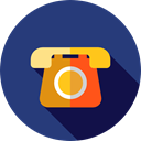 Communications, phone call, phone, telephone, technology, vintage DarkSlateBlue icon