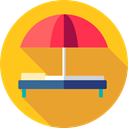 Holidays, summer, vacations, Hammock, Sun Umbrella Goldenrod icon