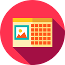 Time And Date, interface, Administration, Organization, Calendars, Calendar, time, date, Schedule Crimson icon