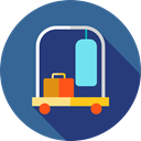 hotel, trolley, transport, luggage, Holidays, baggage, Bellboy DarkSlateBlue icon