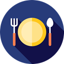 Knife, Plate, Restaurant, Dish, Fork, Cutlery, Tools And Utensils, Food And Restaurant DarkSlateBlue icon