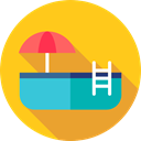 water, sports, swimming, Holidays, Ladder, Swimming Pool, Summertime Gold icon