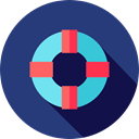 lifeguard, lifebuoy, Floating, Lifesaver, security, help DarkSlateBlue icon