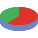 Stats, statistics, marketing, Pie chart, finances, graphical, Seo And Web, Business Crimson icon