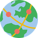 Maps And Location, Seo And Web, global, Geography, worldwide, Maps And Flags, Planet Earth, Earth Globe MediumSeaGreen icon