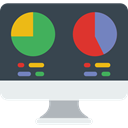 Analytics, graphic, Seo And Web, Laptop, monitor, screen, Business, Stats DarkSlateGray icon