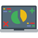 Stats, Analytics, graphic, Seo And Web, Laptop, monitor, screen, Business DimGray icon