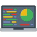 Analytics, graphic, Seo And Web, Laptop, monitor, screen, Business, Stats DimGray icon